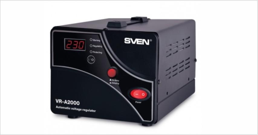 Стабилизаторы SVEN VR-A2000 и VR-A1000 - техника в доме под надежной защитой
